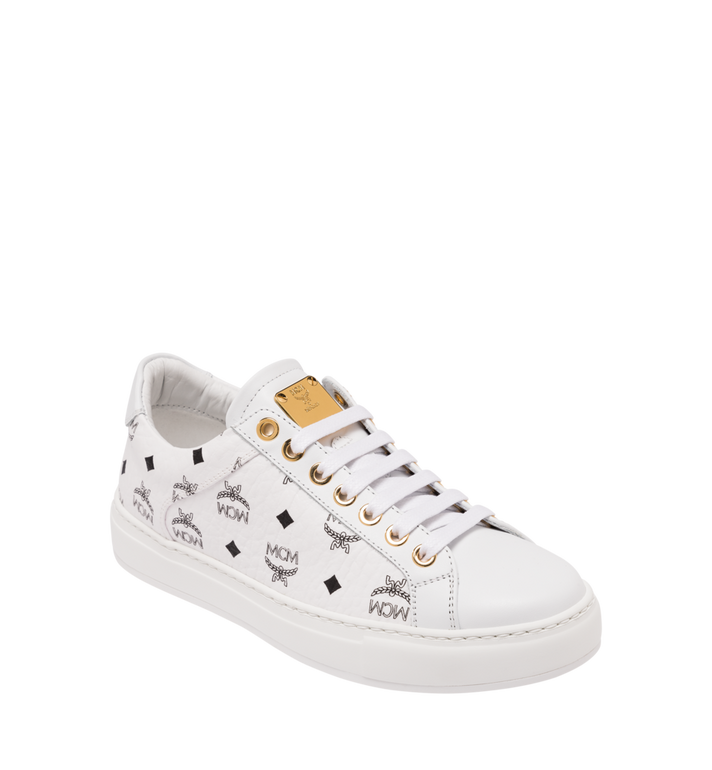 MCM Women's Classic Low Top Trainers in Visetos Alternate View