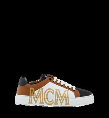 MCM Low Top Damen Sneakers aus Leder Cognac MES9SMM16CO039 Alternate View 2
