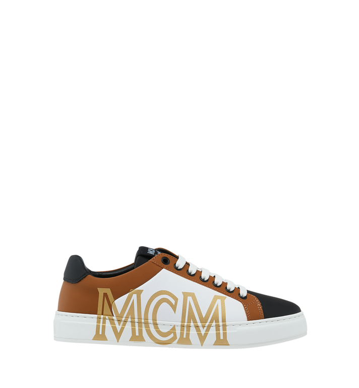 MCM Women's Low Top Sneakers in Leather Cognac MES9SMM16CO040 Alternate View 2