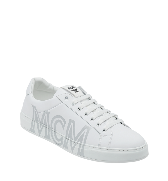 MCM Women's Low Top Trainers in Leather Alternate View