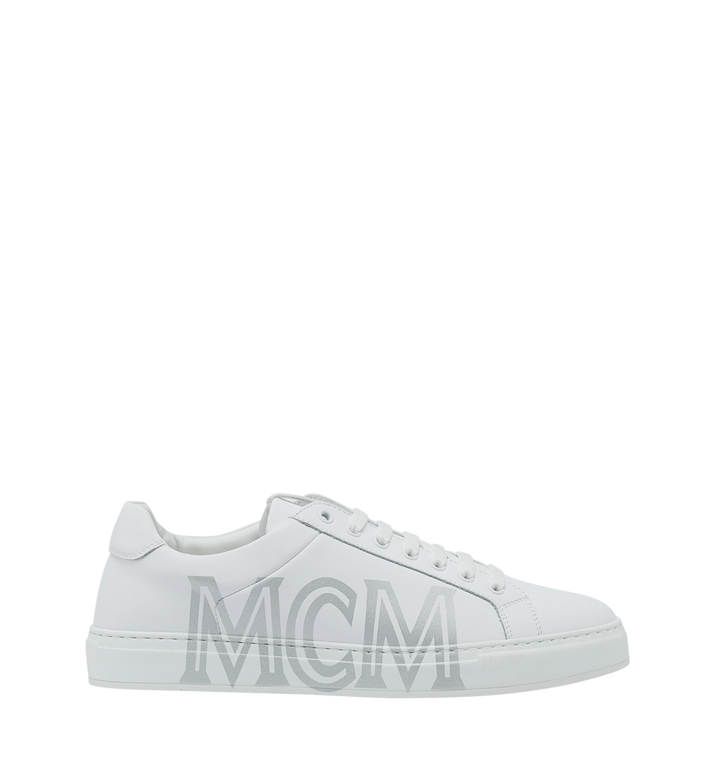 MCM Women's Low Top Trainers in Leather Alternate View 2