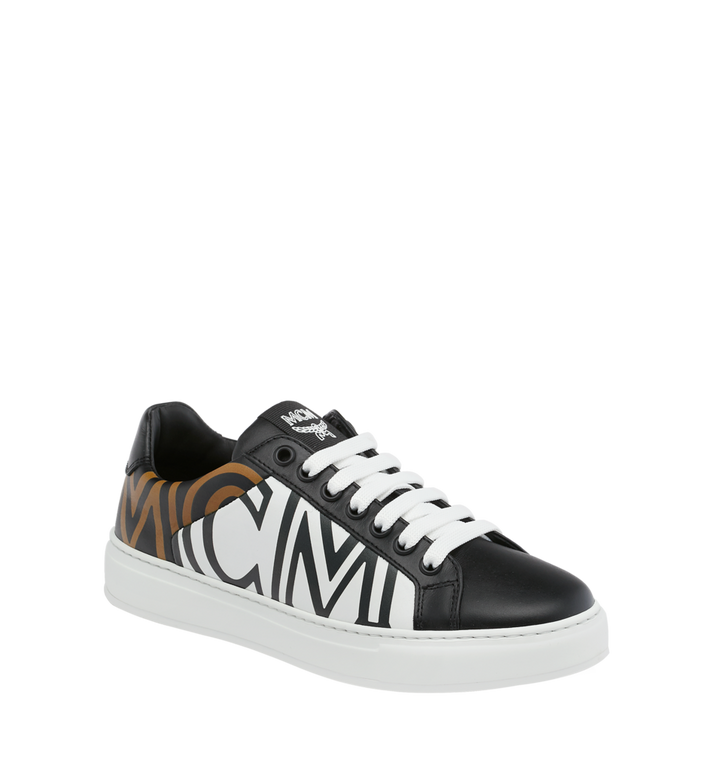 MCM Women's Low Top MCM Logo Sneakers in Leather Alternate View