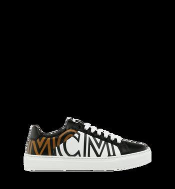MCM ウィメンズ MCMロゴ レザー ロートップスニーカー Black MES9SMM17BK037 Alternate View 2