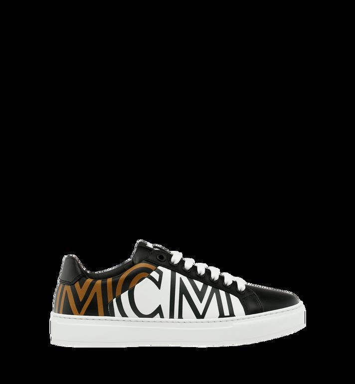 MCM Women's Low Top MCM Logo Sneakers in Leather Black MES9SMM17BK038 Alternate View 2