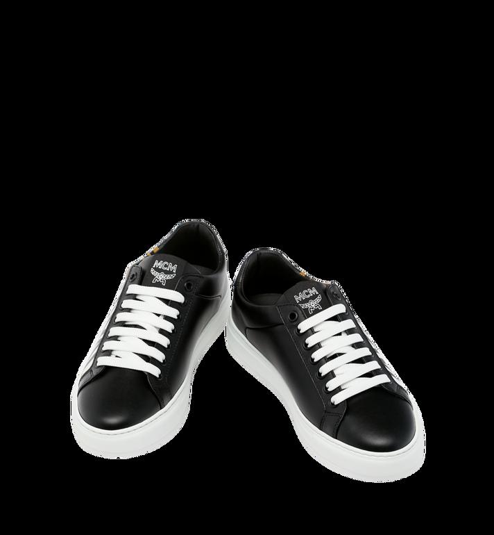 MCM Women's Low Top MCM Logo Sneakers in Leather Black MES9SMM17BK038 Alternate View 4