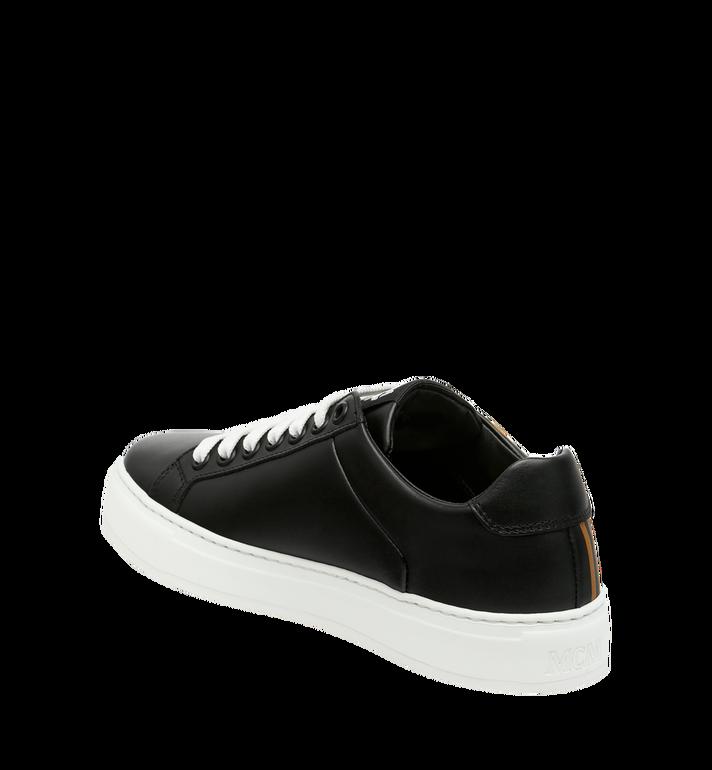 MCM Women's Low Top MCM Logo Sneakers in Leather Black MES9SMM17BK040 Alternate View 3