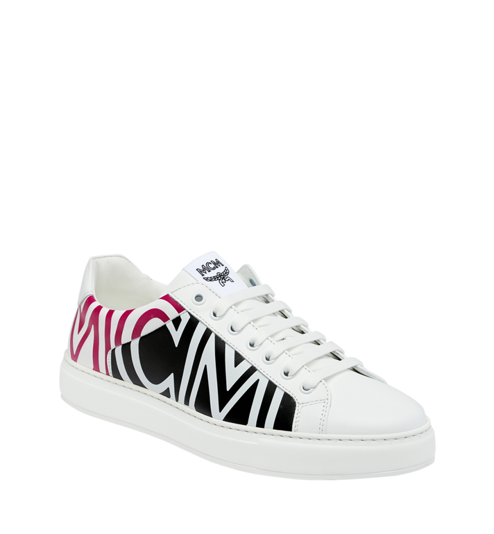 MCM Women's Low Top MCM Logo Sneakers in Leather Alternate View 1