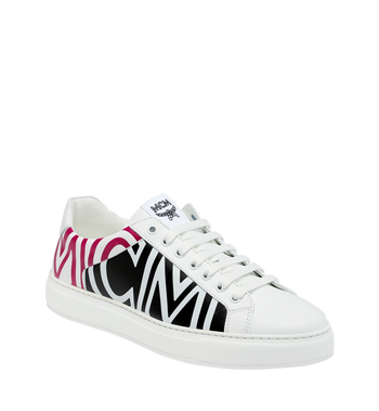 MCM Women's Low Top MCM Logo Trainers in Leather Alternate View