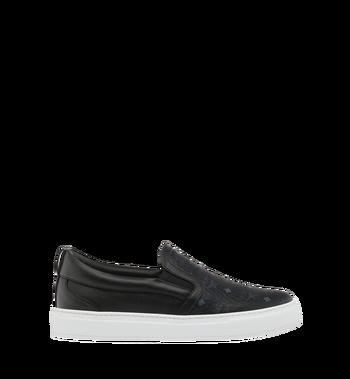 MCM Men's Visetos Slip On Sneakers Black MES9SMM40BK037 Alternate View 2