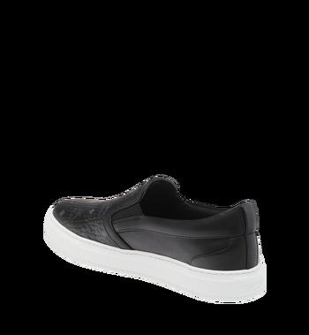 MCM Men's Visetos Slip On Sneakers Black MES9SMM40BK037 Alternate View 3