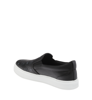 MCM Men's Visetos Slip On Sneakers Black MES9SMM40BK038 Alternate View 3