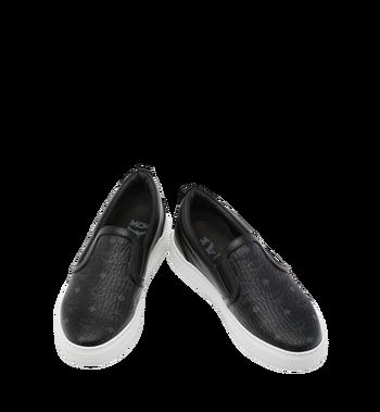 MCM Men's Visetos Slip On Sneakers Black MES9SMM40BK038 Alternate View 4
