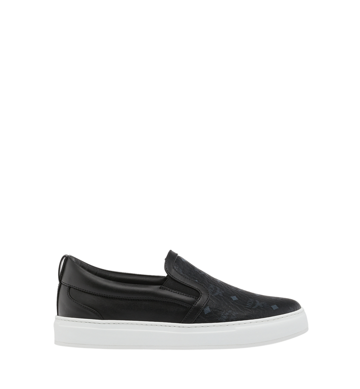 MCM Men's Visetos Slip On Sneakers Black MES9SMM40BK040 Alternate View 2