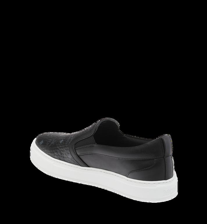 MCM Men's Visetos Slip On Sneakers Black MES9SMM40BK040 Alternate View 3