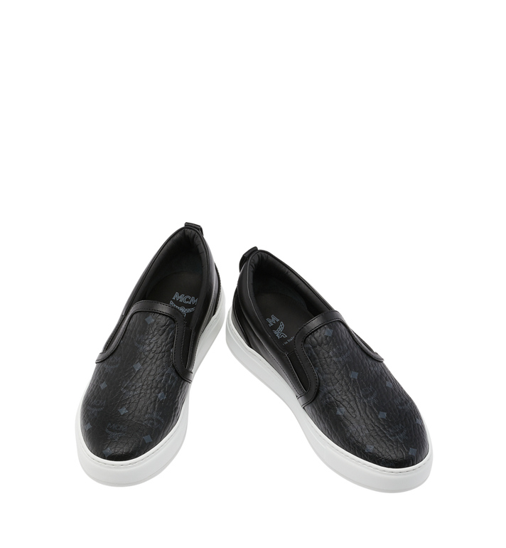 MCM Men's Visetos Slip On Sneakers Black MES9SMM40BK040 Alternate View 4