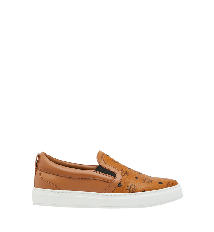 MCM Men's Visetos Slip On Sneakers Cognac MES9SMM40CO038 Alternate View 2