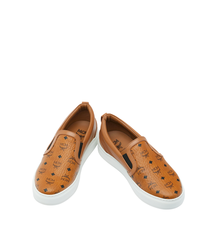MCM Men's Visetos Slip On Sneakers Cognac MES9SMM40CO038 Alternate View 4
