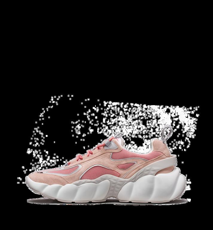 MCM Women's Himmel Low Top Sneakers in Suede Pink MES9SNX04P5036 Alternate View 3