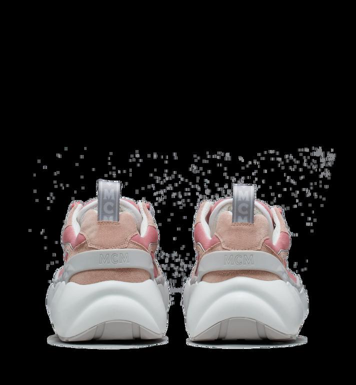 MCM Women's Himmel Low Top Sneakers in Suede Pink MES9SNX04P5036 Alternate View 5
