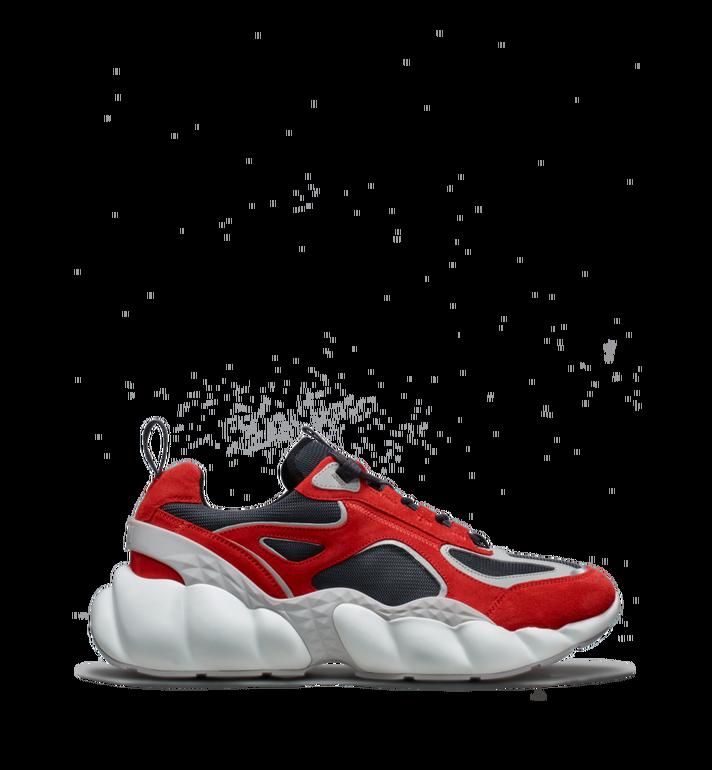 MCM Women's Himmel Low Top Sneakers in Suede Red MES9SNX04RE037 Alternate View 2