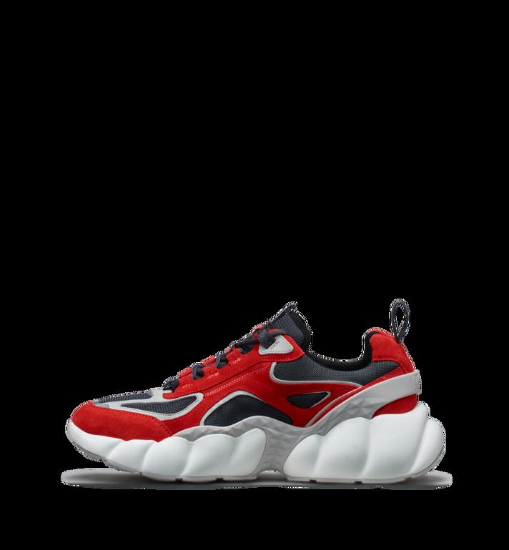 MCM Women's Himmel Low Top Sneakers in Suede Red MES9SNX04RE037 Alternate View 3