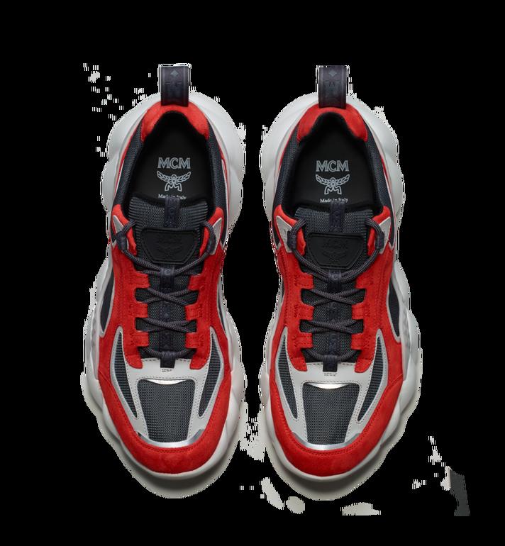 MCM Women's Himmel Low Top Sneakers in Suede Red MES9SNX04RE037 Alternate View 4