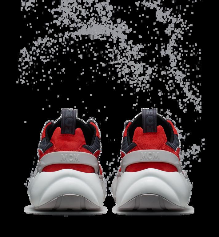 MCM Women's Himmel Low Top Sneakers in Suede Red MES9SNX04RE037 Alternate View 5