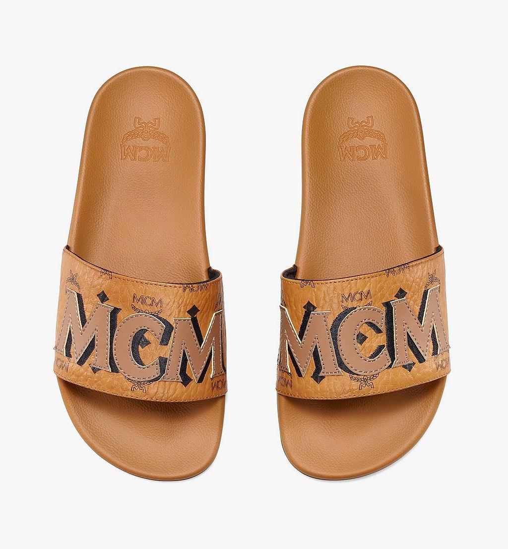 MCM 女士MCM经典花纹拖鞋 Cognac MESAAMM11CO035 更多视角 4