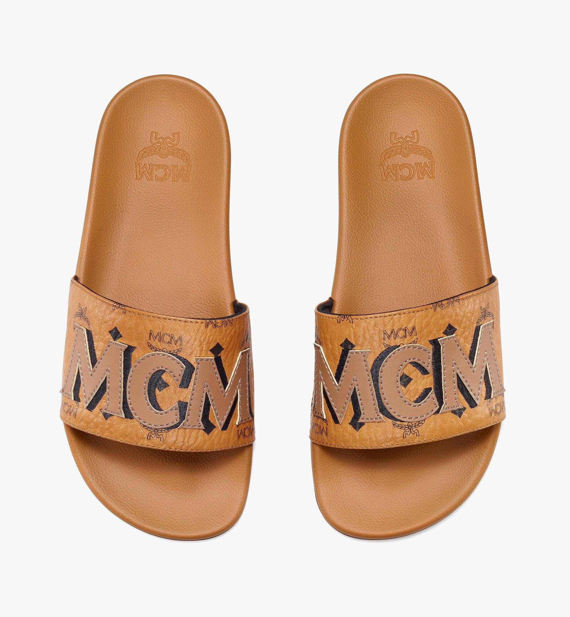 MCM 女士 MCM 印花拖鞋 Cognac MESAAMM11CO036 更多視圖 4