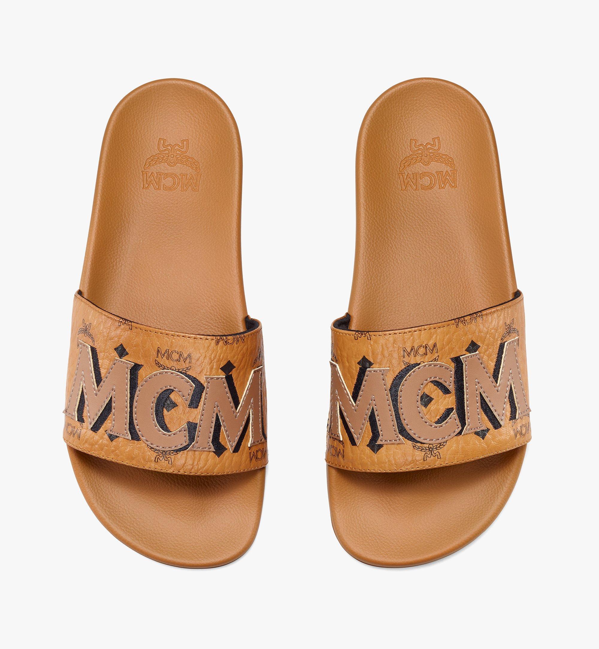 MCM Slides mit MCM-Monogramm für Damen Cognac MESAAMM11CO037 Noch mehr sehen 4