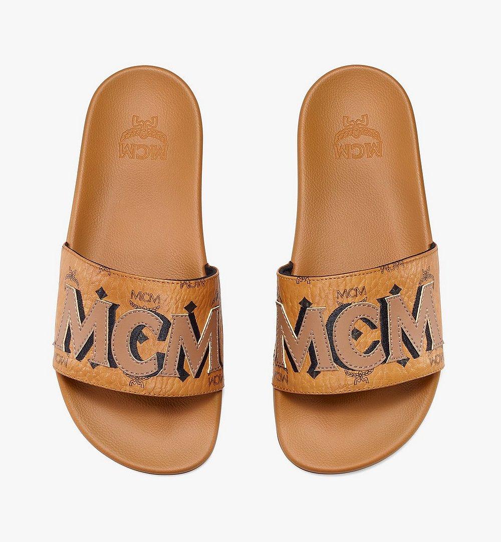 MCM Women's MCM Monogram Slides Cognac MESAAMM11CO037 Alternate View 4