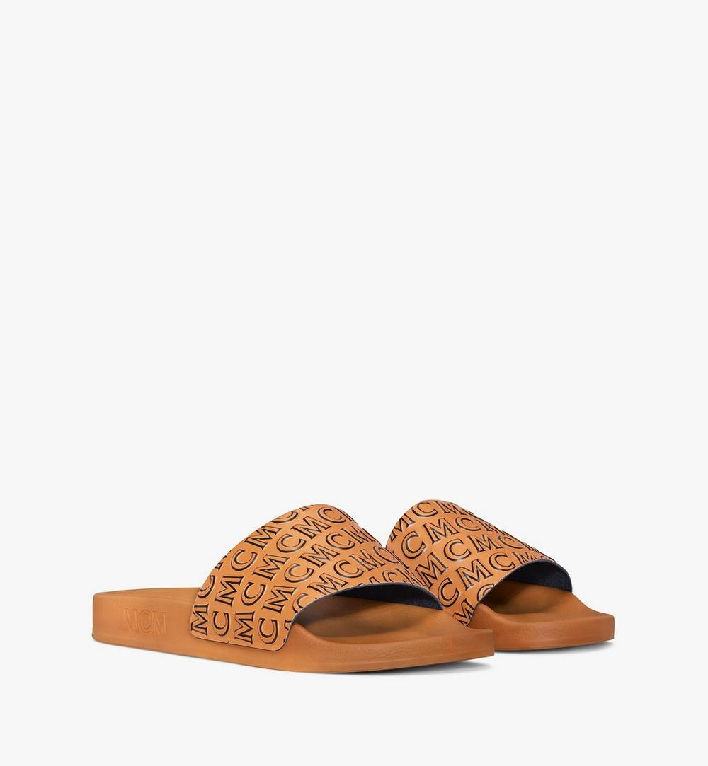 Women's Diagonal Monogram Rubber Slides 1