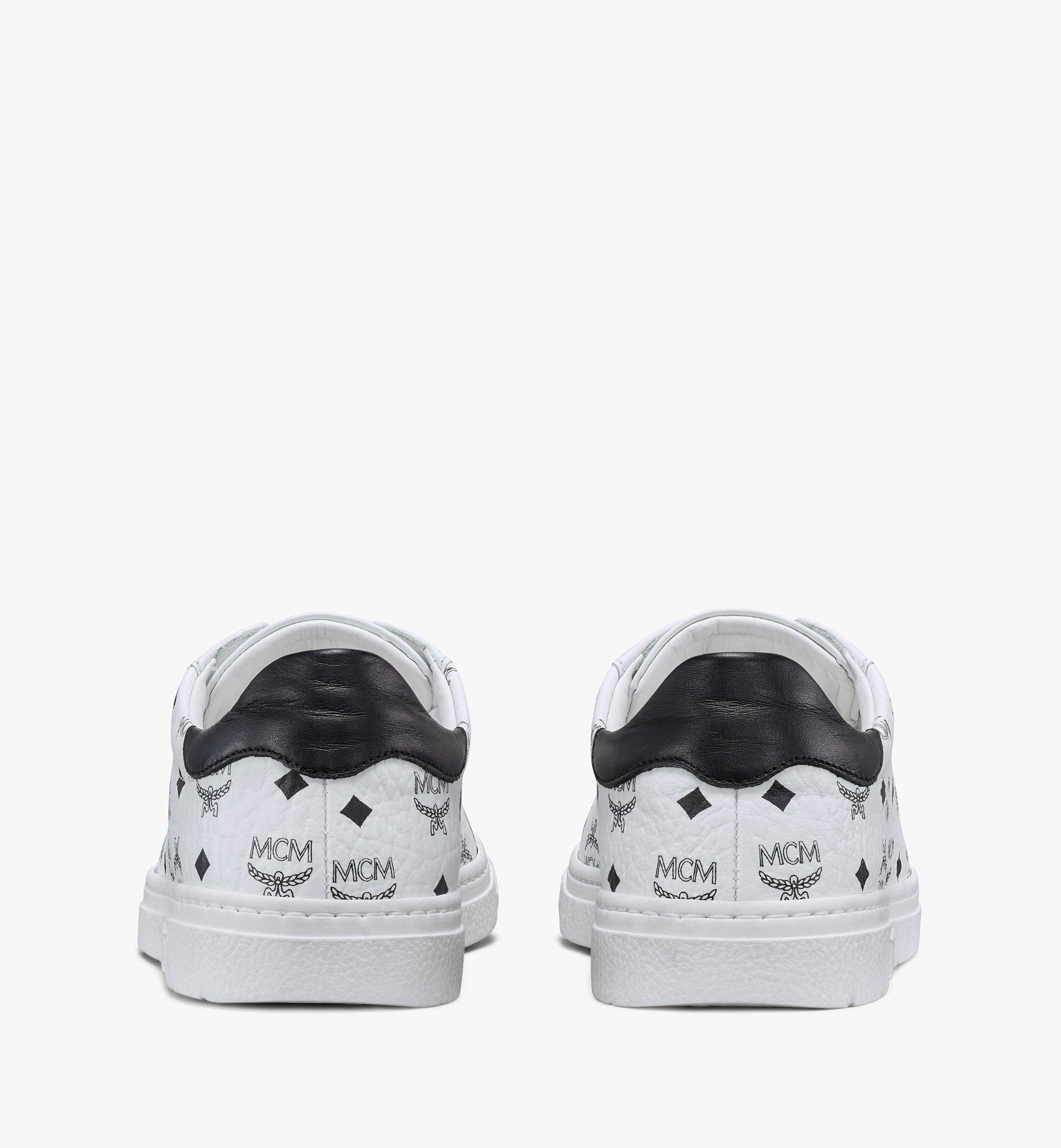 MCM Visetos 系列女士 Terrain Derby 低筒運動鞋 White MESAAMM17WT036 更多視圖 2