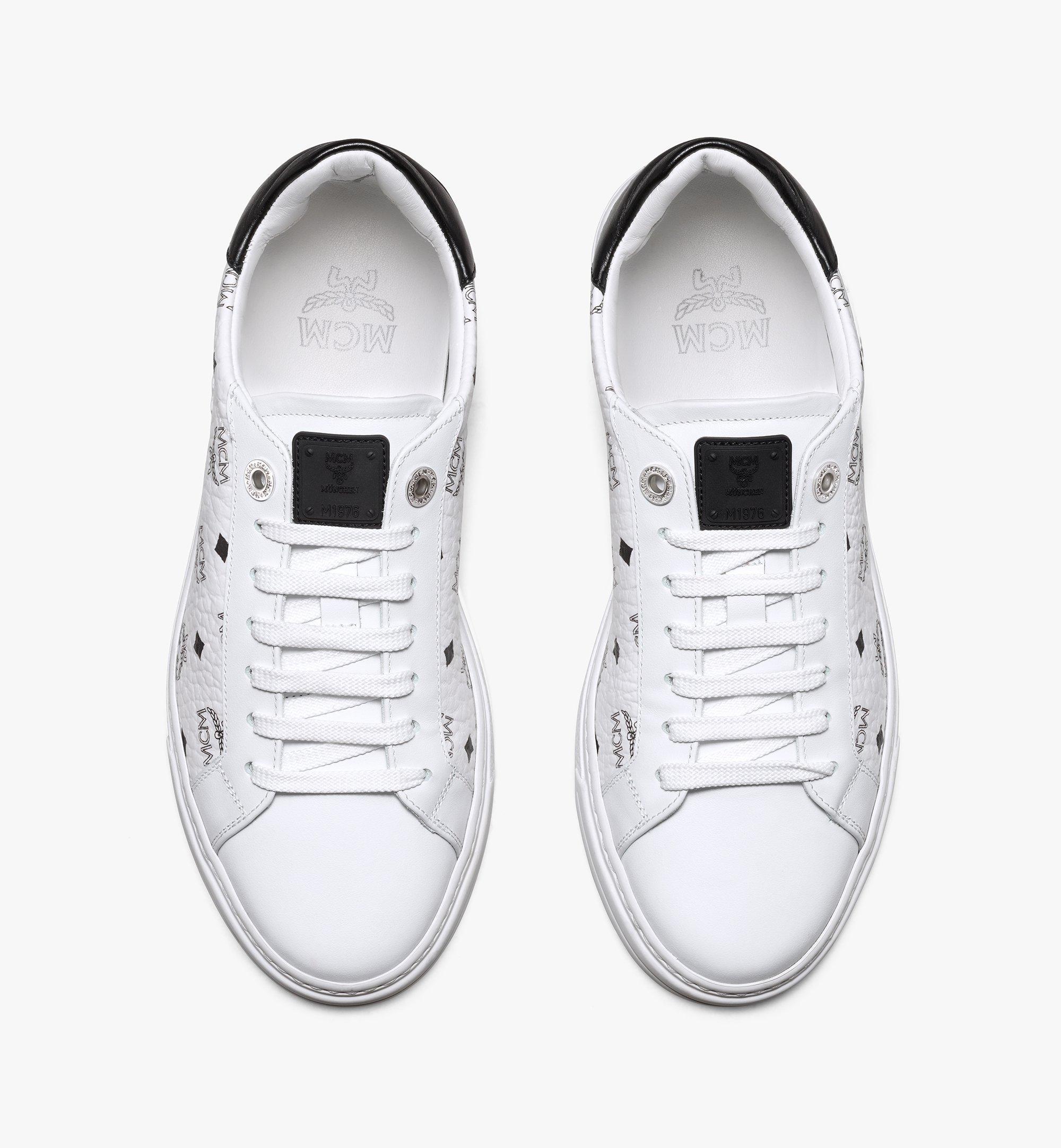 MCM Visetos 系列女士 Terrain Derby 低筒運動鞋 White MESAAMM17WT036 更多視圖 4