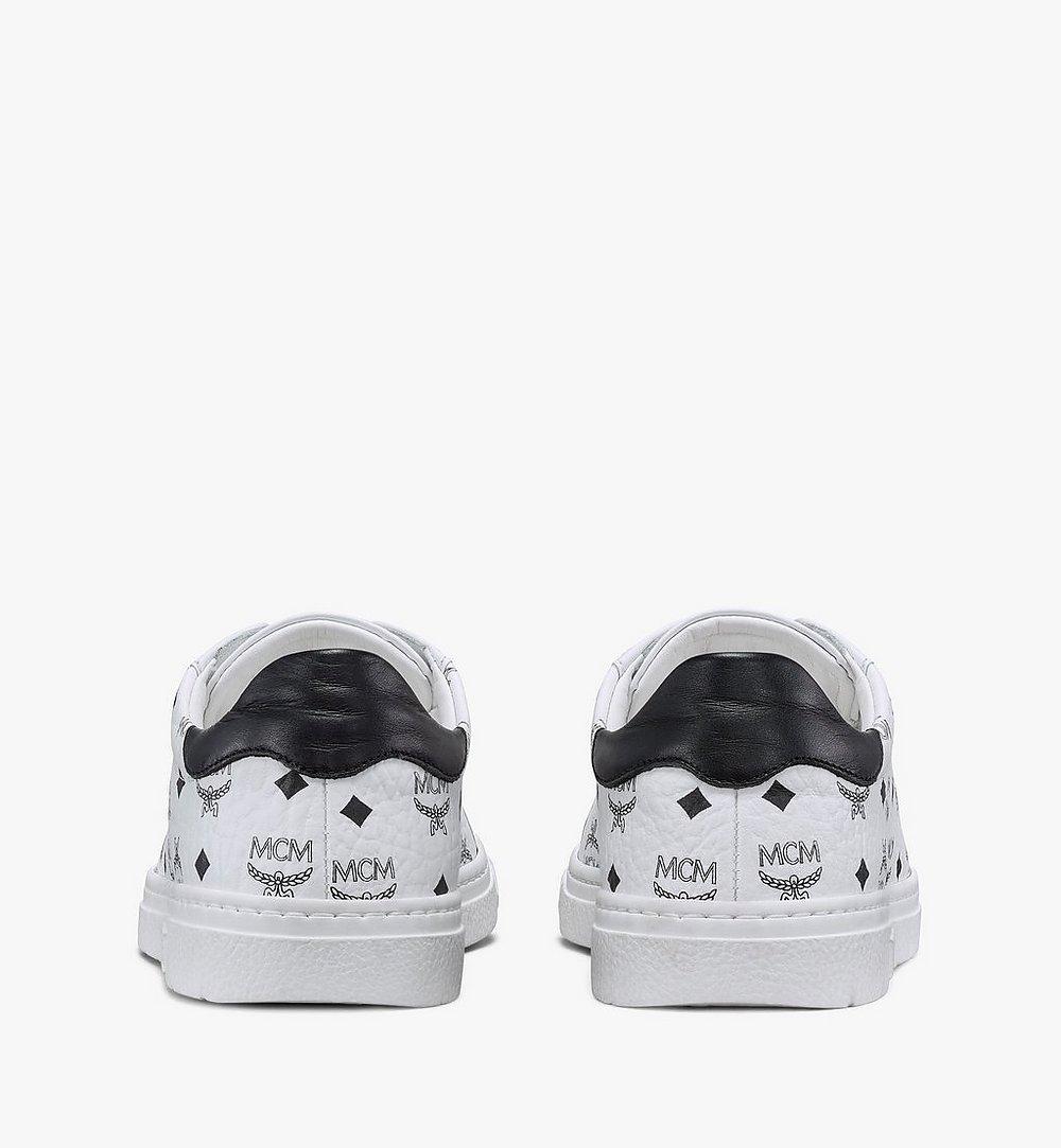 MCM Women's Terrain Lo Sneakers in Visetos White MESAAMM17WT039 Alternate View 2