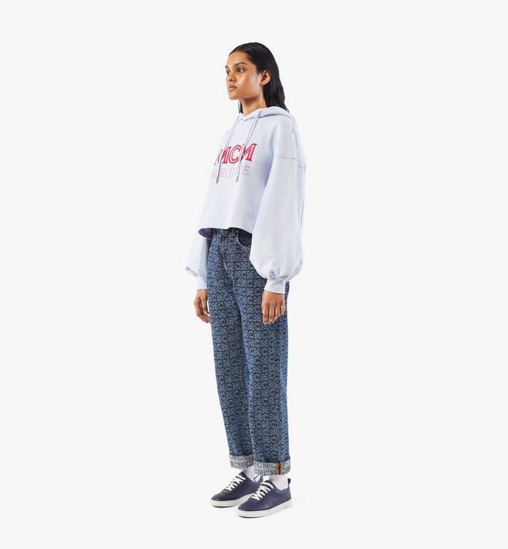 MCM Terrain Lo Sneaker für Damen Navy MESAAMM18VA037 Alternate View 7