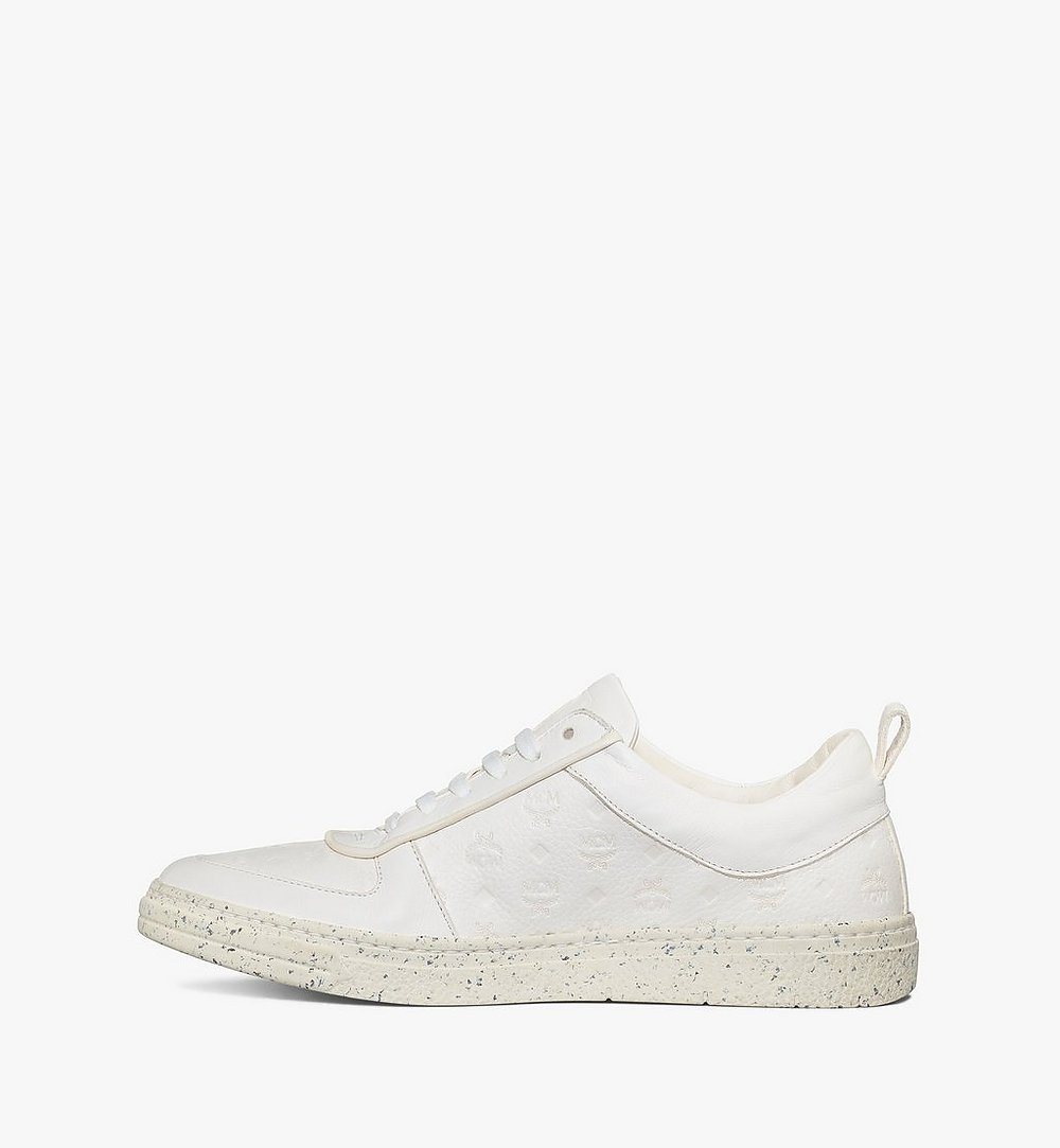 MCM Women's Sustainable Terrain Lo Sneakers White MESAAMM18WT036 Alternate View 1