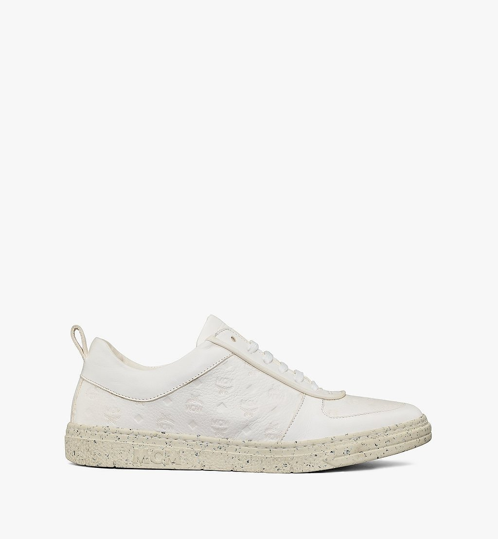 MCM Women's Sustainable Terrain Lo Sneakers White MESAAMM18WT036 Alternate View 3