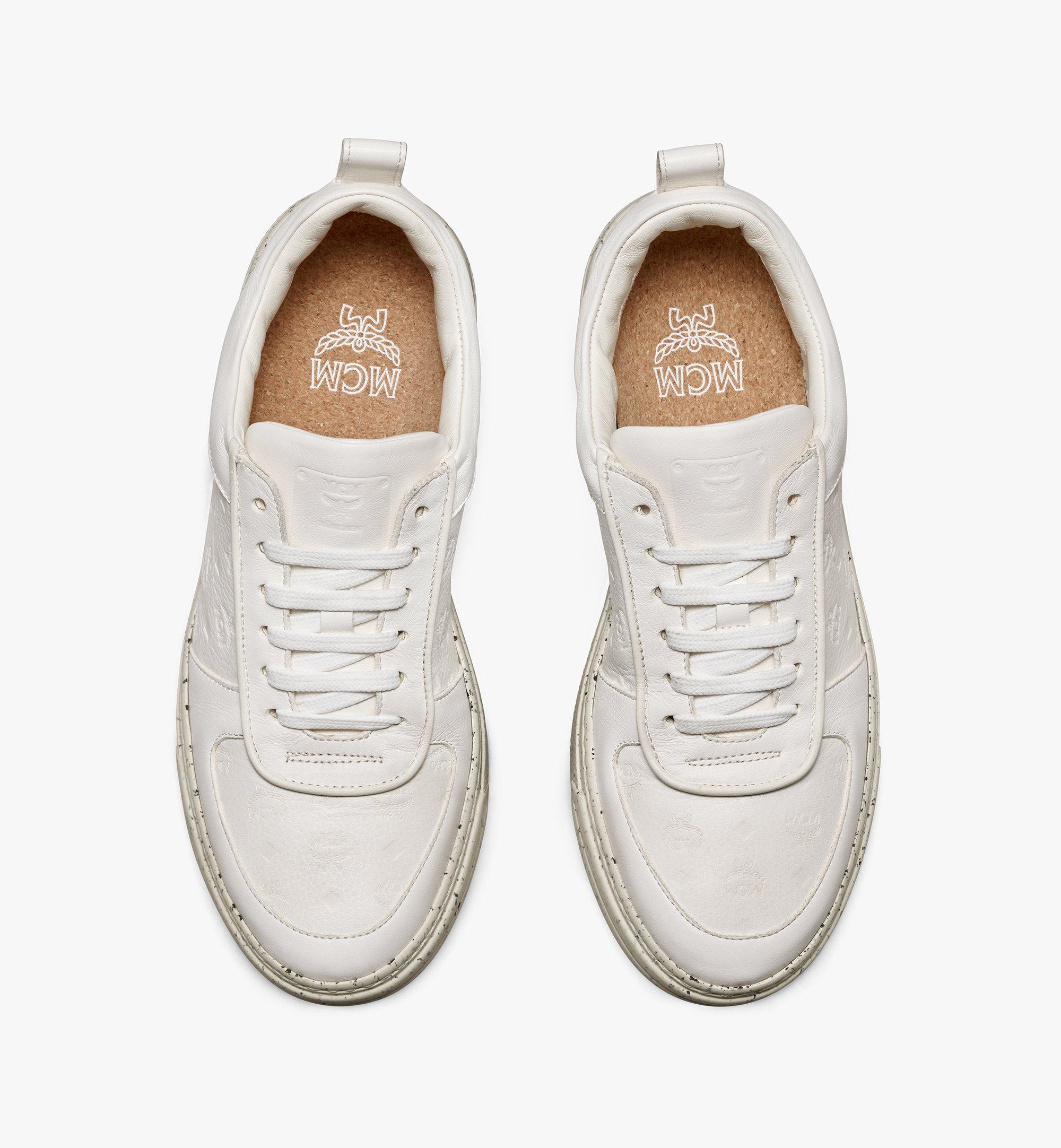 MCM รองเท้าผ้าใบสำหรับผู้หญิง Terrain Lo ผลิตจากวัสดุที่ยั่งยืน White MESAAMM18WT036 มุมมองอื่น 4