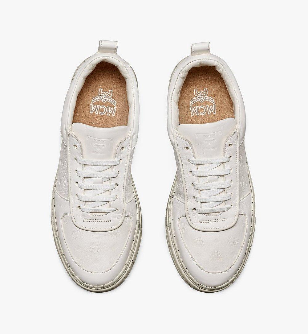 MCM Women's Sustainable Terrain Lo Sneakers White MESAAMM18WT038 Alternate View 4