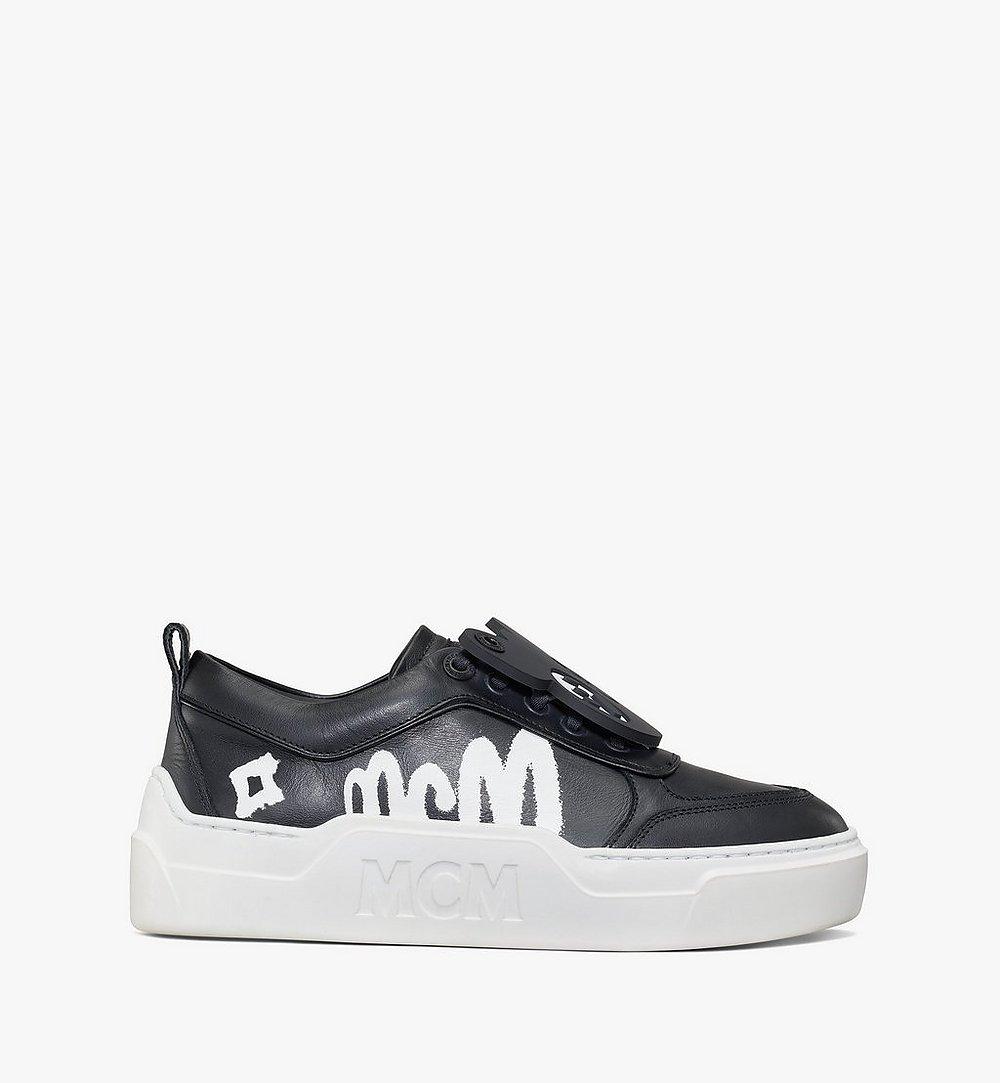 MCM Women's Skyward Platform Sneakers with Bear Charm Green MESAAMM22BK037 Alternate View 3