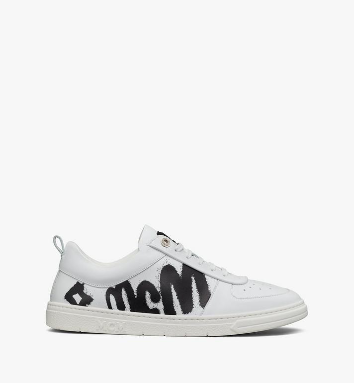 MCM Terrain Lo Sneaker mit grossem Logo für Frauen Pink MESAAMM23WT039 Alternate View 4