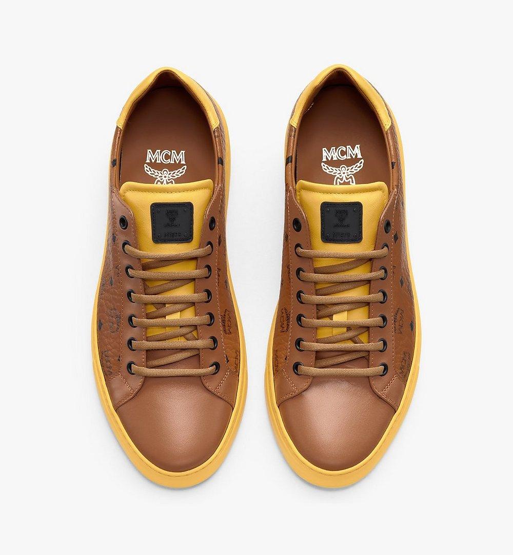 MCM Women's Classic Low-Top Sneakers in Visetos  MESASMM01CO036 Alternate View 4