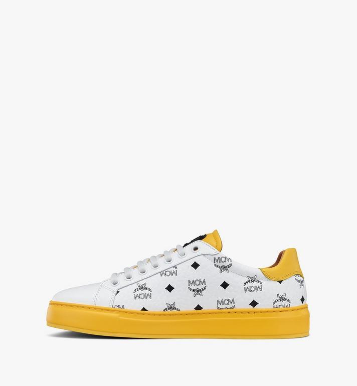 MCM Klassische Low-Top-Sneaker in Visetos für Damen  MESASMM01WT036 Alternate View 2