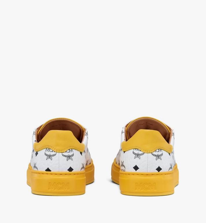 MCM Klassische Low-Top-Sneaker in Visetos für Damen  MESASMM01WT036 Alternate View 3