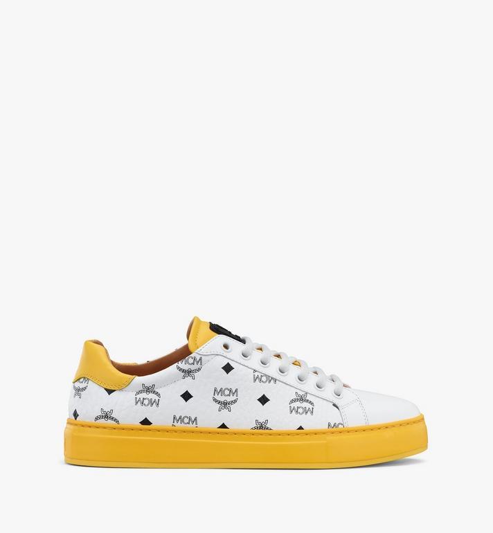 MCM Klassische Low-Top-Sneaker in Visetos für Damen  MESASMM01WT036 Alternate View 4