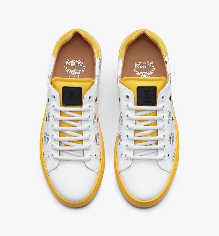 MCM Klassische Low-Top-Sneaker in Visetos für Damen  MESASMM01WT036 Alternate View 5