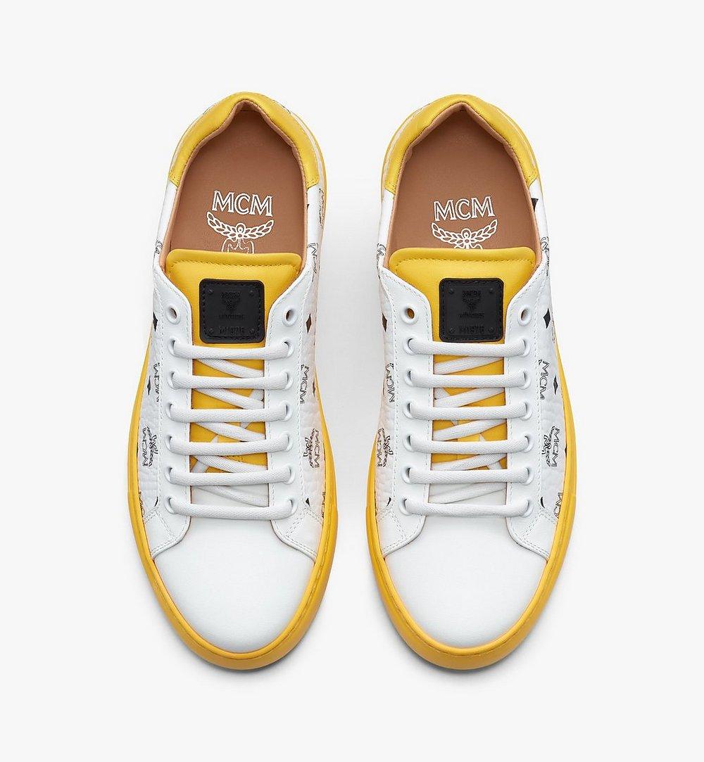 MCM Women's Classic Low-Top Sneakers in Visetos  MESASMM01WT036 Alternate View 4