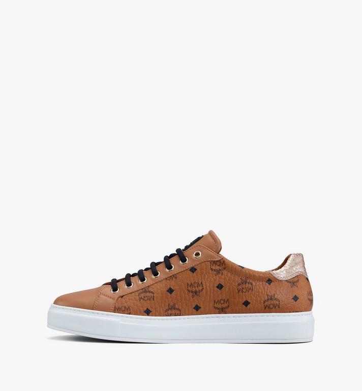 MCM Women's Low-Top Sneakers in Visetos Cognac MESASMM14CO037 Alternate View 4