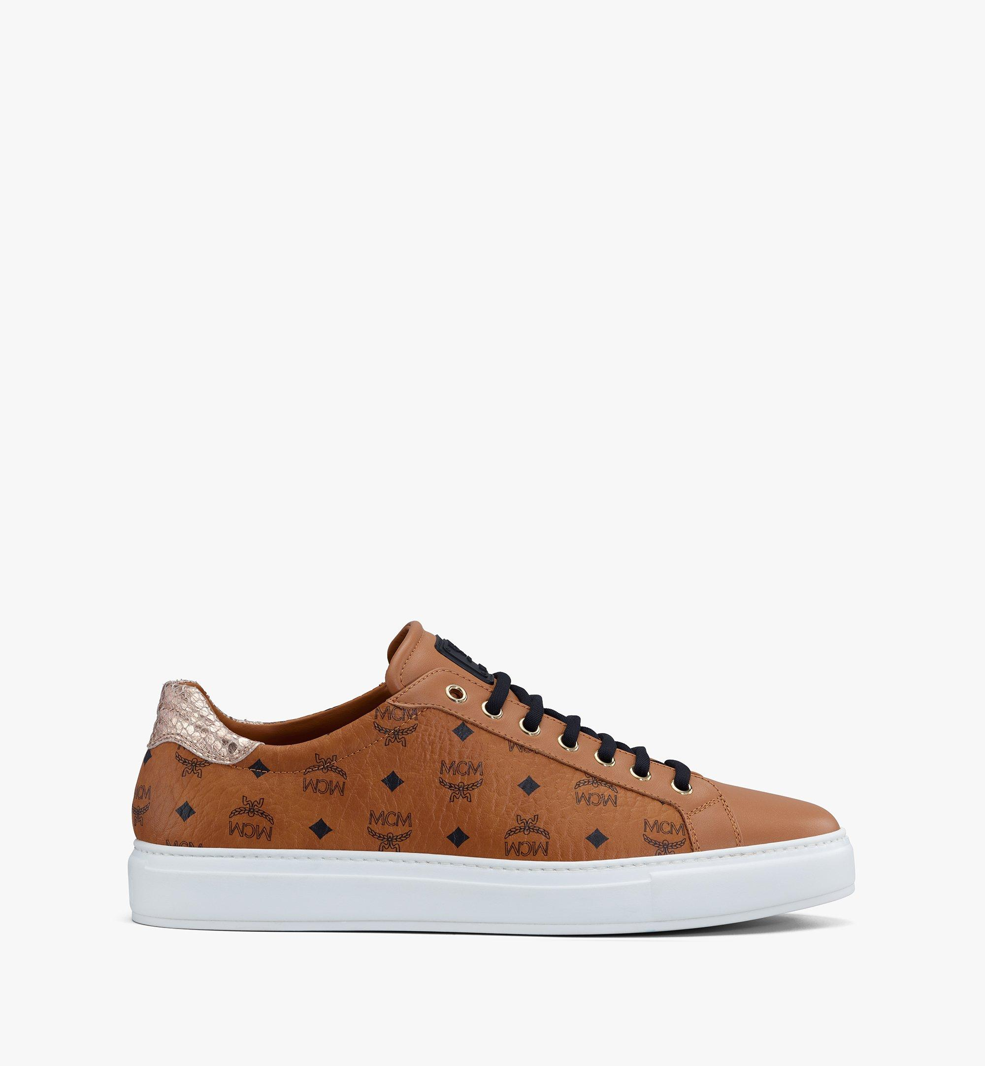mcm sneaker low cognac